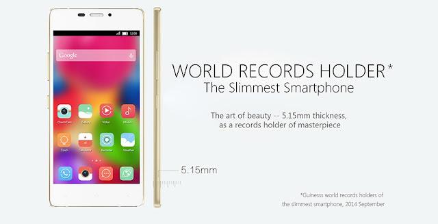 Gionee Elife S5.1: Smartphone tertipis di Dunia untuk saat ini