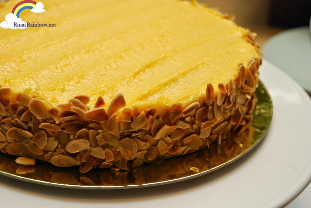 Almond Yema Sansrival Cake