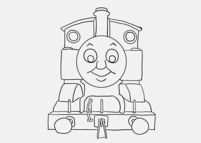 Mewarnai gambar Thomas untuk anak 14