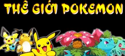 Trò chơi thế giới Pokemon, chơi game pokemon online cực hay