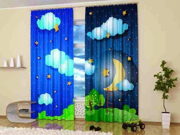 2 Another Good Idea Is To Use Strips That The Curtains In The Bedroom Of A  Young Girl. This Window Treatment Curtains Kids Room Is Very Easy And Cheap.
