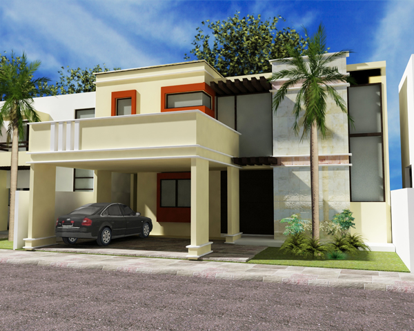 Fachadas de casas modernas fachada de casa moderna estilo for Estilos de casas modernas