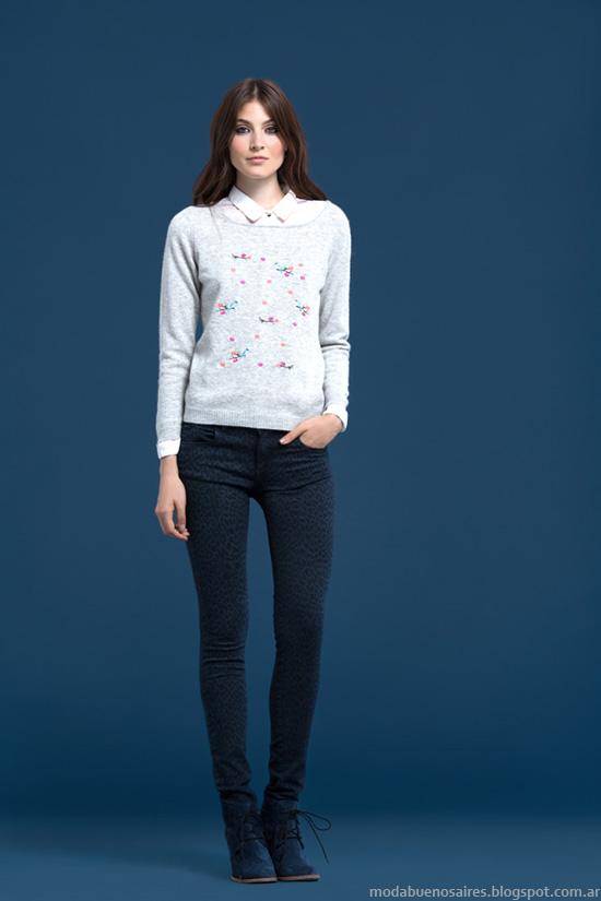 Sweaters otoño invierno 2014 Wanama colección otoño invierno 2014.