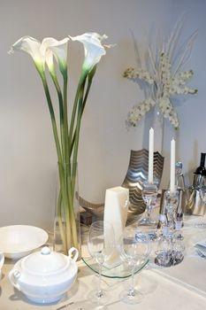 bouquet bridal calla lily centerpieces. Black Bedroom Furniture Sets. Home Design Ideas