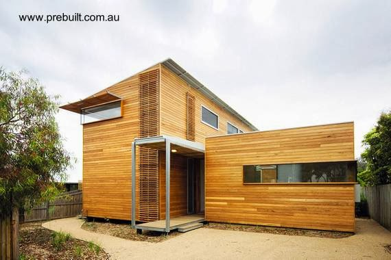 Casa modular de madera estilo Contemporáneo en Australia