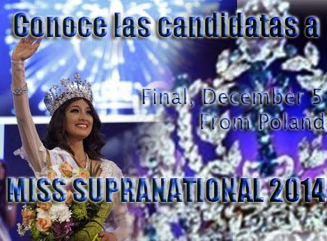 Conoce las Candidatas a Miss Supranational 2014, Haciendo Click en la Imagen.