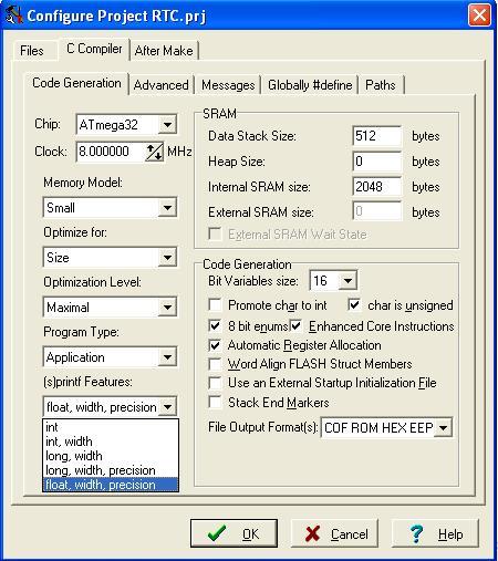 Tutorial Jam Digital dengan RTC DS1307 Menggunakan CodeVision AVR