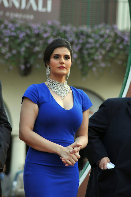 Bollywood Sey Actress Zarine Khan Latest Hot And Spicy Images In Blue