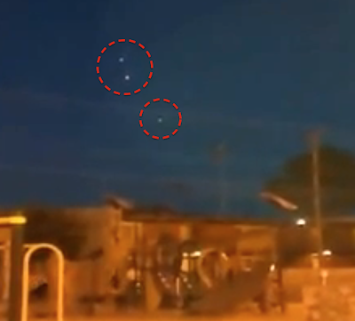 Latest UFO Sightings Glowing UFO's Captured Above Texas