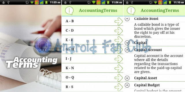 Accounting Terms for Android