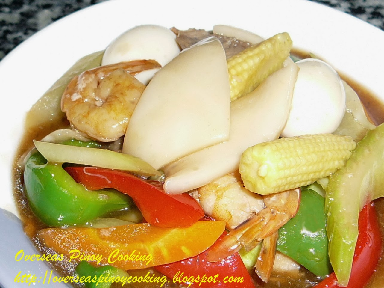 Roast Pork Chop Suey Pinoy buko chopsueyRoast Pork Chop Suey