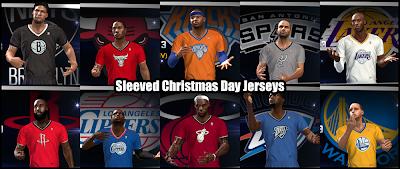 NBA 2K14 Med's Roster with X-mas Jerseys