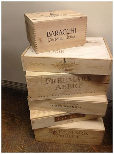 free engraved wooden wine crate heavenly steals
