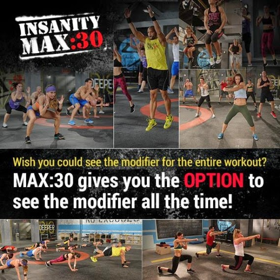 Insanity Max:30, Insanity, Shaun T, Max out, Test group, beachbody , modifier