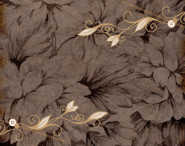 Dark Brown Background with Flowers