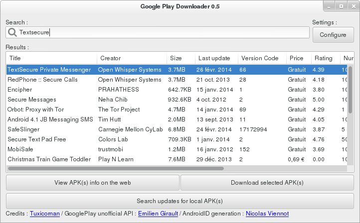 Descargar apks del Google Play en Ubuntu, google play downloader ubuntu,