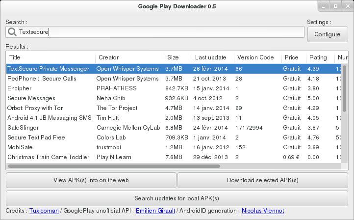 Descargar apks del Google Play en Ubuntu, google play downloader ubuntu,