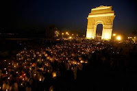 peaceful protest at India Gate, New delhi
