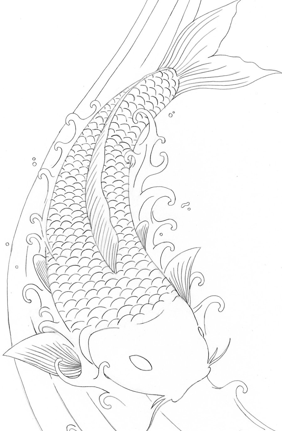 japanese fish coloring pages - photo#8