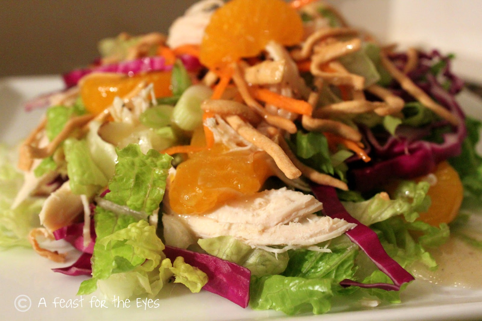 Easy chinese chicken salad made lite