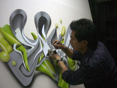 MURAL TIPO GRAFFITI- ESTUDIOS FOX TOMA UNO-