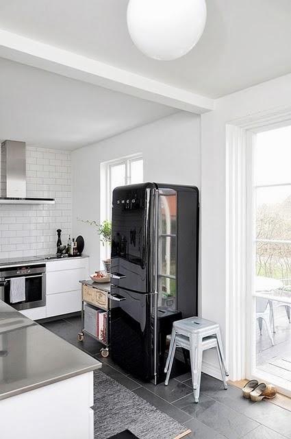 Pellmell cr ations frigo smeg - Cucina con frigo smeg ...