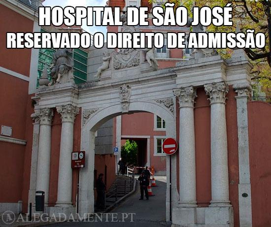 Imagem do Hospital de São José: Hospital de São José – Reservado o Direito de Admissão