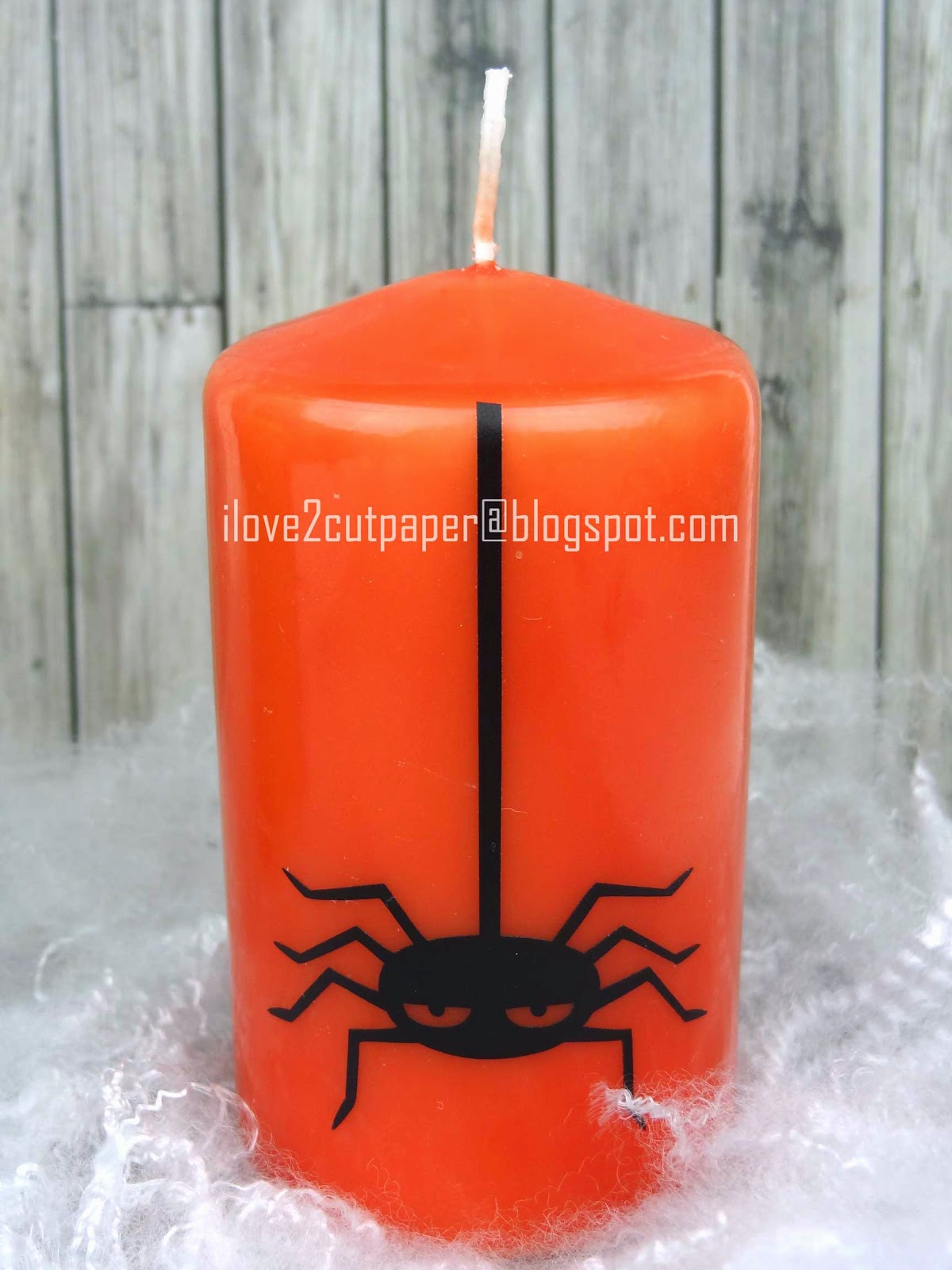 Vinyl on candles for Halloween