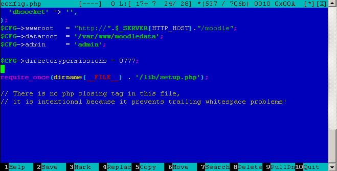 config.php в Moodle