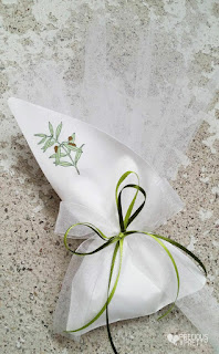 wedding favors from greece with olive leaves