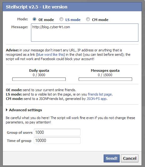 Cara Cepat Mengirim Pesan Ke Semua Teman Facebook | blog.cyber4rt.com