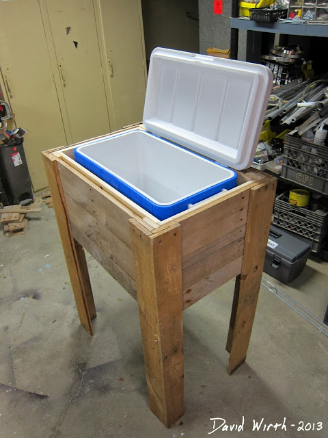 plans to build make a wood cooler stand, rustic, free,