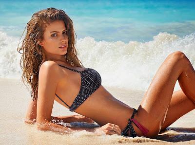 Cameron Russell posing sexy as sensual for Calzedonia bikini model