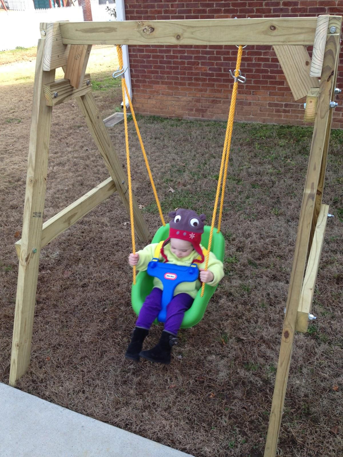 Think make live love homemade kid swing for Love making swing