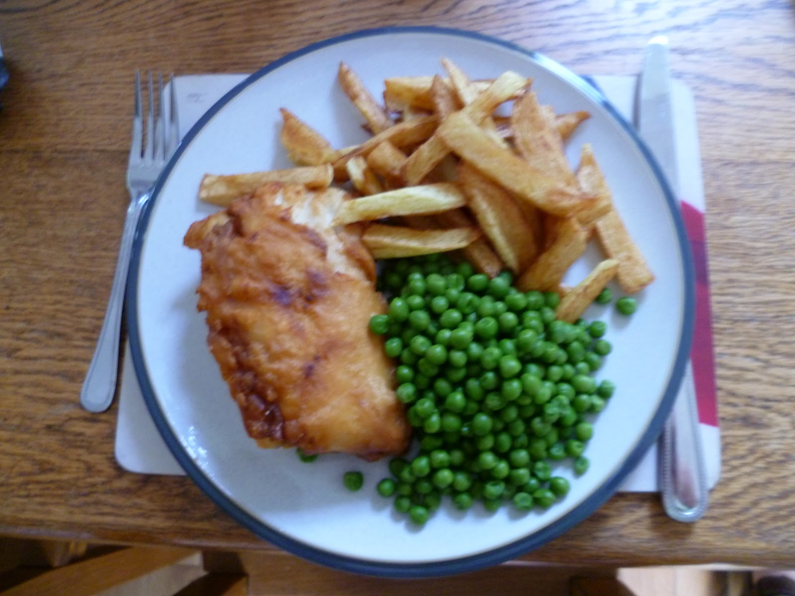 Fish and chips with vinegar for two cabine du jardin deux for Fish and chips vinegar