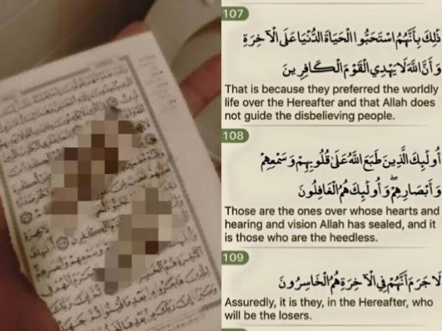 Kertas Al-Quran yang Alvin Tan Rosakkan Mengandungi 'Mesej' Untuknya