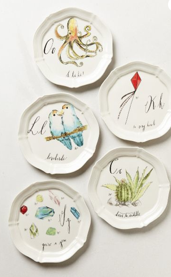 Diva's A-Z Plates at ANTHROPOLOGIE
