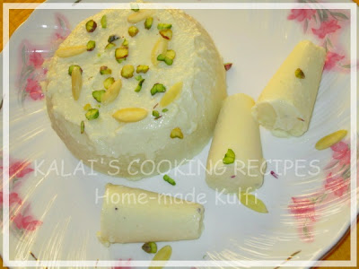 Home-made Malai Kulfi - Indian Ice Cream