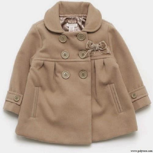 Manteau beige bébé fille