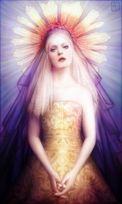 Anna Dittmann escume deviantart ilustrações belas singelas surreal mulheres Iluminada