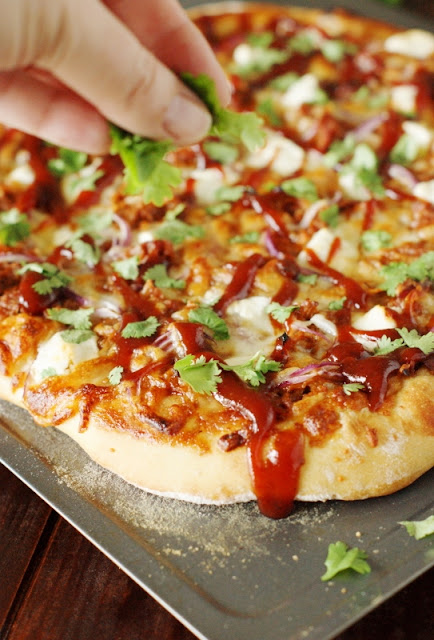 Sweet-&-Spicy Pulled Pork BBQ Pizza