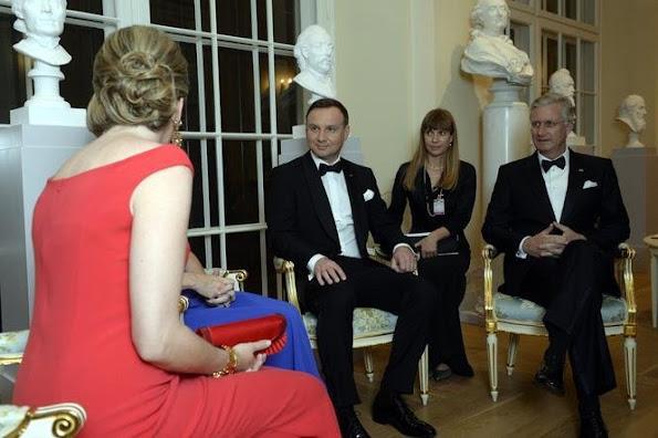 Queen Mathilde of Belgium, Polish President Andrzej Duda, First Lady of Poland Agata Kornhauser-Duda