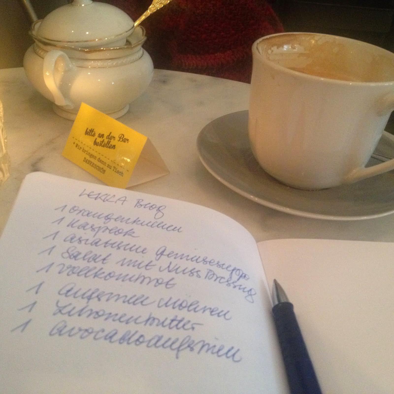 cafe und schreiben