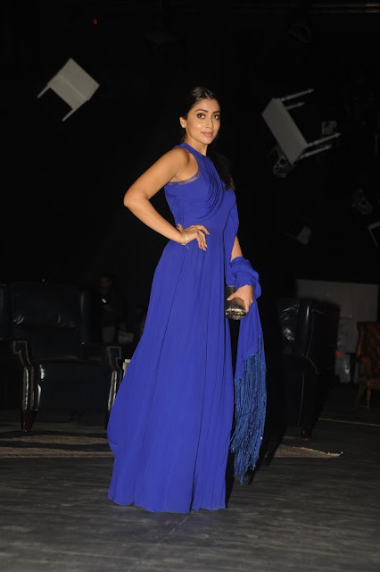 Shriya Saran Super Hot Looks In Blue Dress At LFW Winter Festive 2015