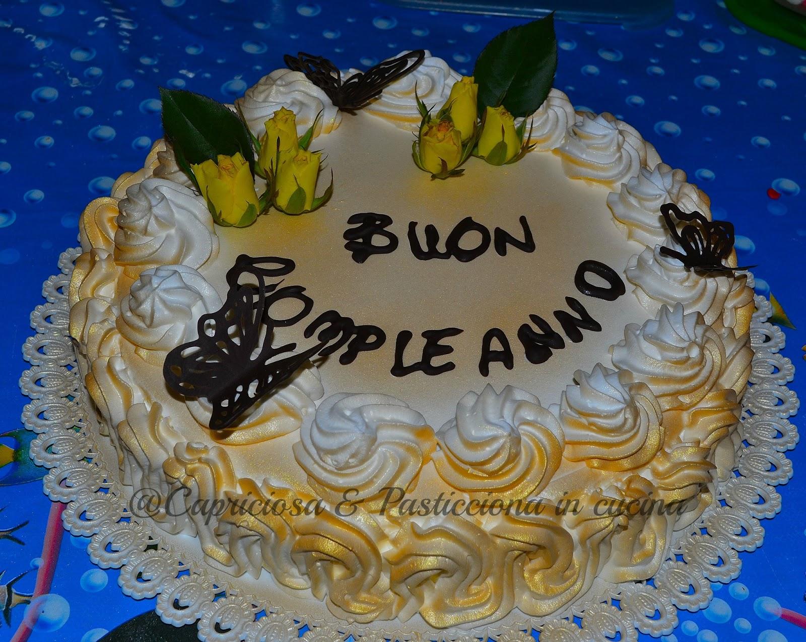 Capricciosa e pasticciona in cucina torte di compleanno x for Decorazioni di torte con panna montata