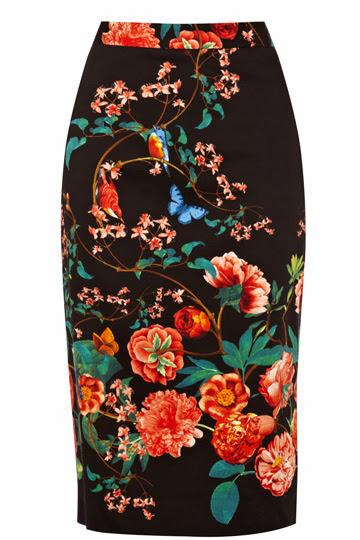 black patterned skirt oasis