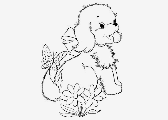 cute puppy coloring pages images - photo#28