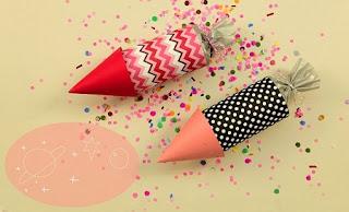 Confeti para Año Nuevo Paso a Paso