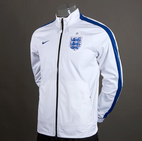 Jaket Bola Timnas Inggris Putih 2013-2014 - Jaket Grade Ori