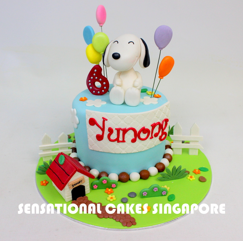 The Sensational Cakes Cute Snoopy Theme Birthday Cake Singapore